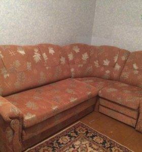 Диван угловой 2 кресла