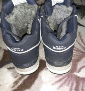 Зимние кроссовки на меху New Balance.