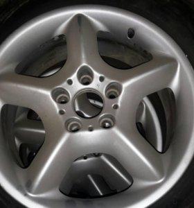 Шины + диски (R17 235/65 Dunlop BMW X5)