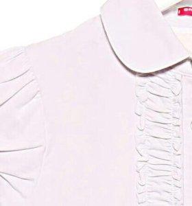 Блузка школьная, белая