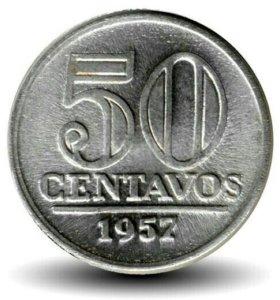Монета Бразилии 1957г