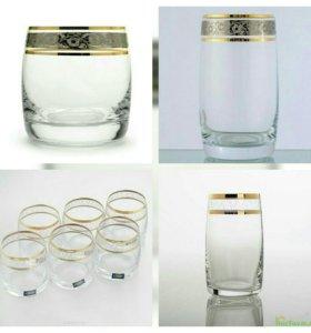 Набор бокалов виски, вода, водка Богемия