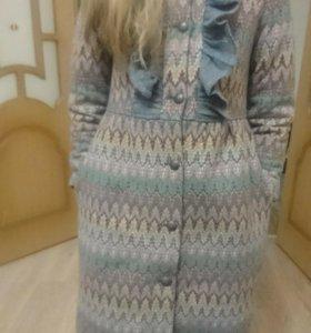 Пальто для девочки рост134