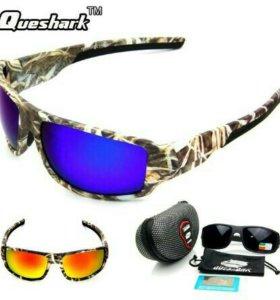 Queshark Новые Поляризационные очки для рыбной лов