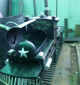 новый мангал паровоз