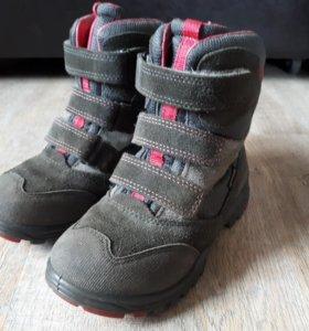 Зимние ботинки ecco gore-tex (по стельке 17.3 см)