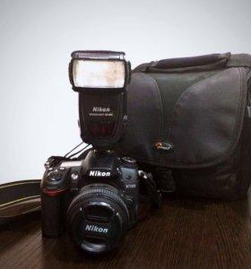 Nikon D7000, объектив, вспышка и сумка