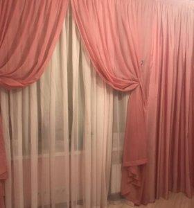 Комплект штор и покрывало на кровать