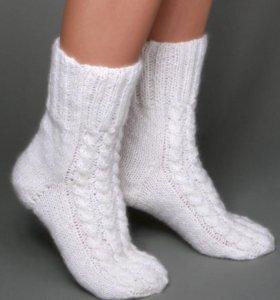 Вязаные варежки | носки