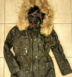 Кожаная куртка на девочку 5лет