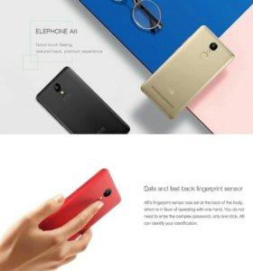 Новые Elephone A8,сканер отпечатков 64bit