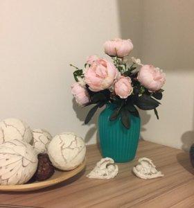 Искусственные цветы пионы для декора