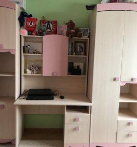Стенка детская шкаф пенал стол