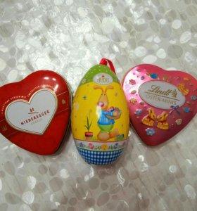 Жестяные баночки от конфет