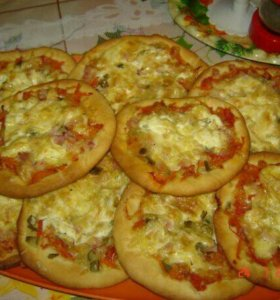 Домашняя пицца на пышном тесте