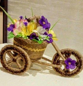 Велосипед кашпо
