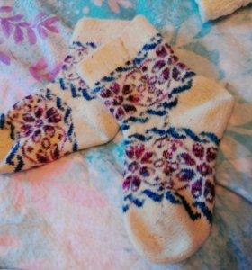 Шерстяные носки вязаные ОЧЕНЬ тёплые