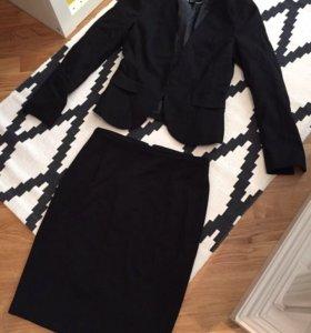 Костюм Hm новый юбка + пиджак + блузка