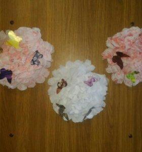 Цветы из солфеток