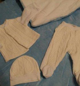 На выписку одеяло и костюм