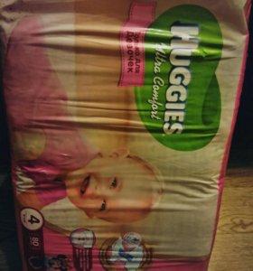 Памперсы Huggies 80 шт новые в упаковке
