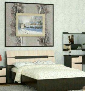 Кровать 160с матрасом Новая!