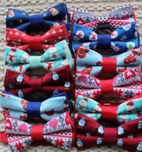 Новогодние галстук-бабочки