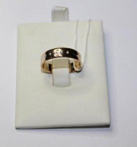 Кольцо золотое с бриллиантом З/Б 298 729
