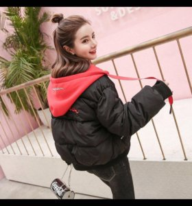 Куртка-бомбер теплый подростковый