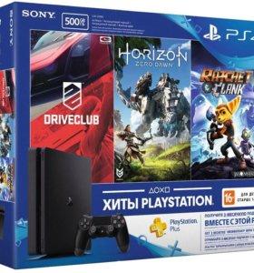 Sony playstation 4 + 3 игры