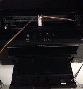 Цветной принтер формата А3 с СНПЧ, рабочий.