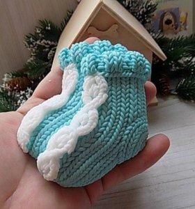 """Мыло """"Вязаные носки"""""""