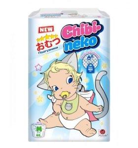 Подгузники Maneki Chibi-neko M (6-11кг) 62шт