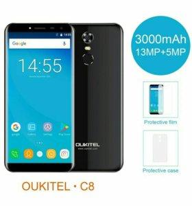 Новые Oukitel C8 в заводских плёнках