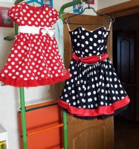 Платье стиляги мама и дочка