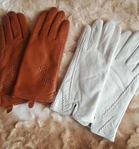 Перчатки из натуральной кожи.