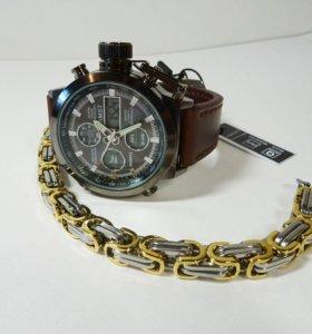 Мужские часы АМСТ с браслетом из стали в комплекте