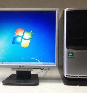 Компьютер в сборе 2ядра 2гб + монитор 17