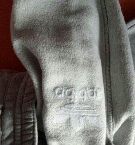 Штаны adidas оригинал на флисе