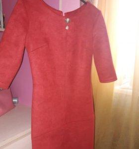 Платье экозамш