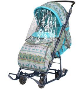 Санки-коляска детские Умка 3-1 ВЯЗАННЫЙ