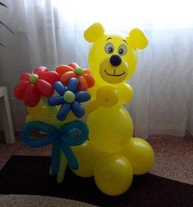 Букеты и фигуры из воздушных шаров
