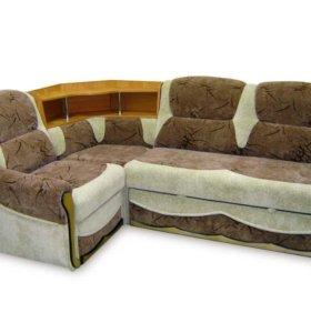 Угловой диван с баром