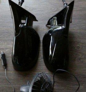 Зеркала и вентилятор