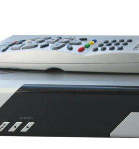 Спутниковая тарелка + цифровой ресивер GS7300
