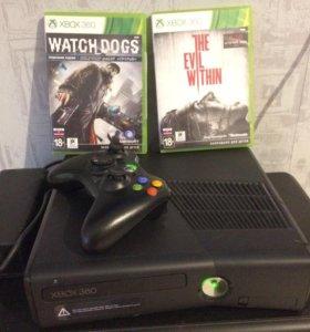 XBOX 360 SLIM 320GB + Watchdogs + Evil Within