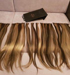 Натуральные волосы на зажимах