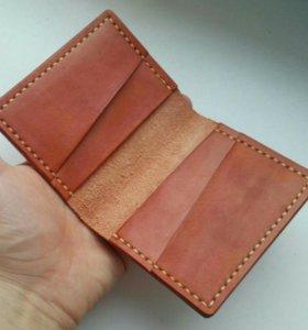 Мини кошелек из кожи ручной работы