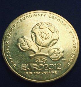 """Монета Гривна """"Евро 2012"""""""