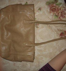 Кожанная сумка женская !